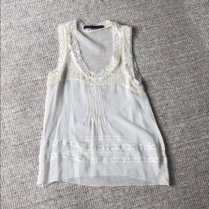 Beautiful white sheer sequin blouse
